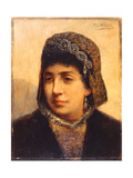 Head of a Jewish Bride, C.1878 Giclee Print by Maurycy Gottlieb