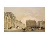 View of the Facade of the Louvre, the Rue De Rivoli and the Palais Royal, 1855 Giclee Print by Louis Jules Arnout