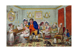 Farmer Giles and His Wife Showing Off their Daughter Betty to their Neighbours Giclee Print by James Gillray