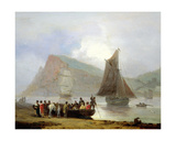 Boarding the Ferry at Teignmouth, 1821 Giclee Print by Thomas Luny