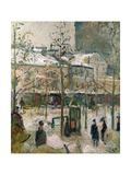 Boulevard De Rocheouart in Snow, 1878 Giclee Print by Camille Pissarro
