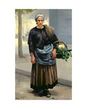Marianne Orfrey, Vegetable Seller Giclee Print by Alfred Roll