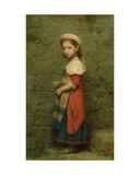 Italian Girl, 1863 Giclee Print by Charles Francois Jalabert