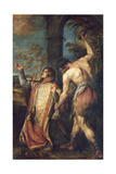The Martyrdom of St. Stephen Giclee Print by Diego Polo