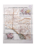 Map of the Klondike Goldfields, 1898 Giclee Print by  W. and A.K. Johnston Ltd.