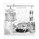 'The Bloody Arena', Printed Newburyport, 13th May 1806 Giclee Print by James Akin