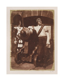 Artilleryman and Highlander, Edinburgh Castle Giclee Print by  David Octavius Hill and Robert Adamson
