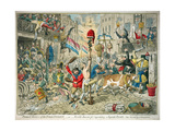 Promis'D Horrors of the French Invasion, Published by Hannah Humphrey, 1796 Giclee Print by James Gillray