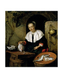 The Fishwife Giclee Print by Gabriel Metsu