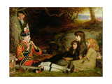 An Idyll of 1745, 1884 Gicléedruk van John Everett Millais