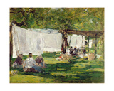The Laundry at Collise St. Simeon Giclee Print by Eugène Boudin