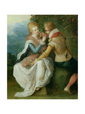 Two Lovers in a Garden Giclee Print by Frans II the Younger Francken