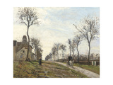 Road in Louveciennes, 1870 Giclee Print by Camille Pissarro