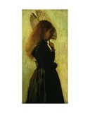 Girl with Fan, 1875/1882 Giclee Print by Frank Huddlestone Potter