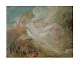 Jupiter et Io Reproduction procédé giclée par Jean-Honore Fragonard