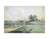 New College from the Parks, C.1790 Giclee Print by Peter Le Cave