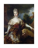Portrait of Mademoiselle De Barral as Diana, C.1714 Giclee Print by Nicolas de Largilliere