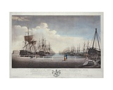 A West View of the New Dock at Kingston Upon Hull, 1786 Giclee Print by Robert Thew