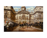The Guard Mounting: the Horse Guards at Whitehall Giclee Print by Harry and Arthur Charles Payne