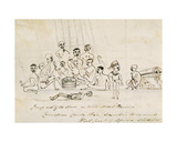 Group of 311 Slaves on Board H.M.S. 'Vesuvius', C.1850 Giclee Print by Commodore Charles Wise