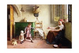 The First Steps, 1876 Giclee Print by Gaetano Chierici