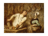 The Butcher, Montmartre Market, C.1857-58 Giclee Print by Honore Daumier