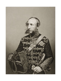 James Thomas Brudenell (1797-1868) 7th Earl of Cardigan, Engraved by D.J. Pound from a… Giclee Print by John Jabez Edwin Paisley Mayall