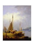 Harbour Scene Giclee Print by Nicholas Matthews Condy