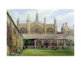 New College Cloisters with Gardener, 1887 Giclee Print by John Fulleylove