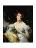 Portrait of Hortense Ballu, Future Madame Alphonse Jacob-Desmalter, C.1832-37 Giclee Print by Antoinette Cecile Hortense Lescot Haudebourt