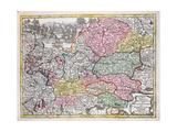 Map of the Austrian Empire, C.1750 Giclee Print by Georg Matthäus Seutter