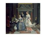 An Interior with Ladies and Gentlemen at Cards, Mid-1660s Giclée-Druck von Eglon Hendrick Van Der Neer
