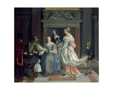 An Interior with Ladies and Gentlemen at Cards, Mid-1660s Giclee Print by Eglon Hendrick Van Der Neer