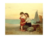 Sisters on the Beach, 1871 Giclee Print by Anton Heinrich Dieffenbach