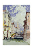 A Side Canal, Venice, 1892 Giclee Print by William Callow