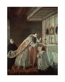 The Last Mass of St. Benedict Giclee Print by Francisco Rizi Or Ricci