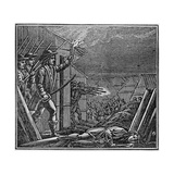 The Burning of the Pequot Village Giclee Print