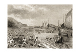 The Romans Landing on the Island of Mallorca in 123 BC Giclee Print by  Spanish School