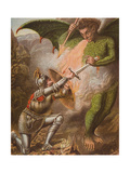 Christian's Conflict with Apollyon, Illustration from 'The Pilgrim's Progress' by John Bunyan… Giclee Print