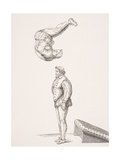 The Spring Board, Illustration from a Facsimilie of 'Excercises in Leaping and Vaulting', by A.… Giclee Print