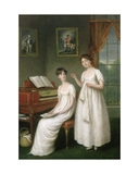 Portrait of the Irwin Sisters Giclee Print by Robert Home