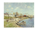 The Quay at Sable Near Port-Marly, 1875 Giclee Print by Alfred Sisley