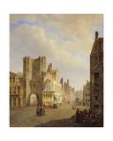 Street Scene, 1833 Giclee Print by Pieter Frans de Noter
