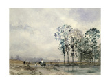Landscape with a Horse Giclee Print by William Evans