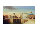 An East View of the Bridge and New Dock at Kingston Upon Hull Giclee Print by Robert Thew