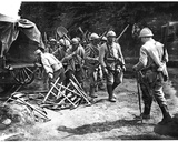 Soldiers Giving Back their Tools after Digging Trenches, C.1916 Photographic Print by Jacques Moreau