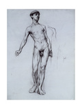Nude Young Man Gicléetryck av Sir William Orpen