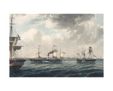 The Steamships 'Vivid' and 'Waterwitch' Off Orfordness, Engraved by R. G. Reeve Giclee Print by John Ward