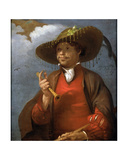 Portrait of a Shepherd with a Flute and a Ring, Possibly a Self Portrait, 1660 Giclee Print by Barent Fabritius
