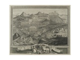 The Battle Array of Carberry Hill Near Edinburgh in 1567, C.1738 Giclée-Druck von George Vertue